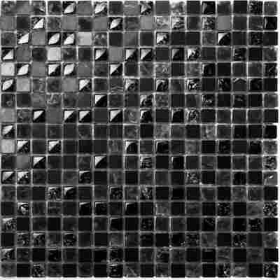 Mosaikfliese Scassato schwarz mix 30x30cm