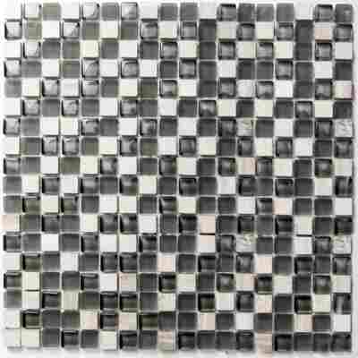 Mosaikfliese Solid white 30x30cm