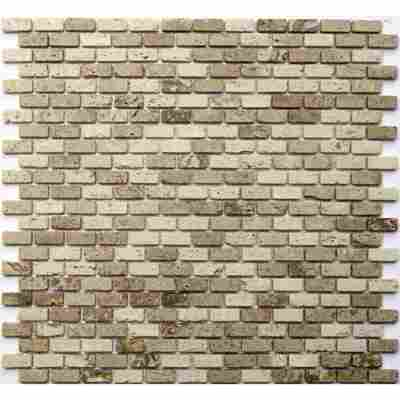 Mosaikfliese Brick travertino noce classic 30x30xm