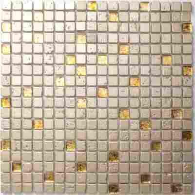 Mosaikfliese Supreme gold 30x30cm