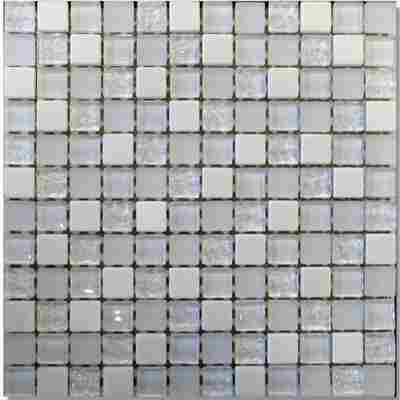 Mosaikfliese Elevato weiß 30x30cm