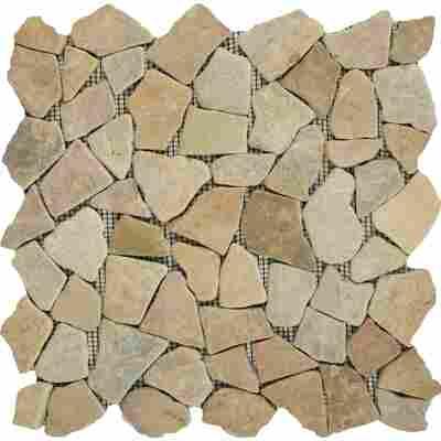 Mosaikfliese Bruch Rosso 28x28cm