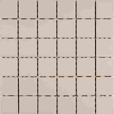 Mosaikfliese Uni Ivory 30x30cm