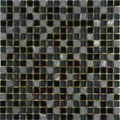 Mosaikfliese Loox Tabrix Mix schwarz 30x30cm