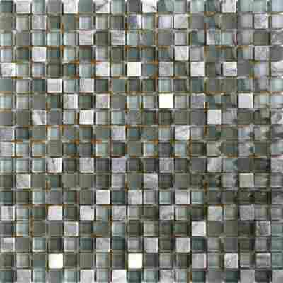 Mosaikfliese Loox Hawaii mix grau 30x30cm
