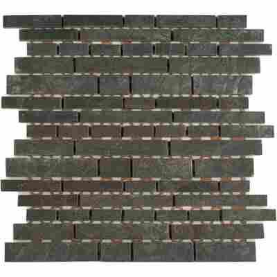 Mosaikfliese Vermont dunkelgrau 29,5x29,5cm