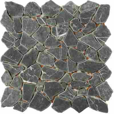 Mosaikfliese Bruch Nero Marquina 30,5x30,5cm
