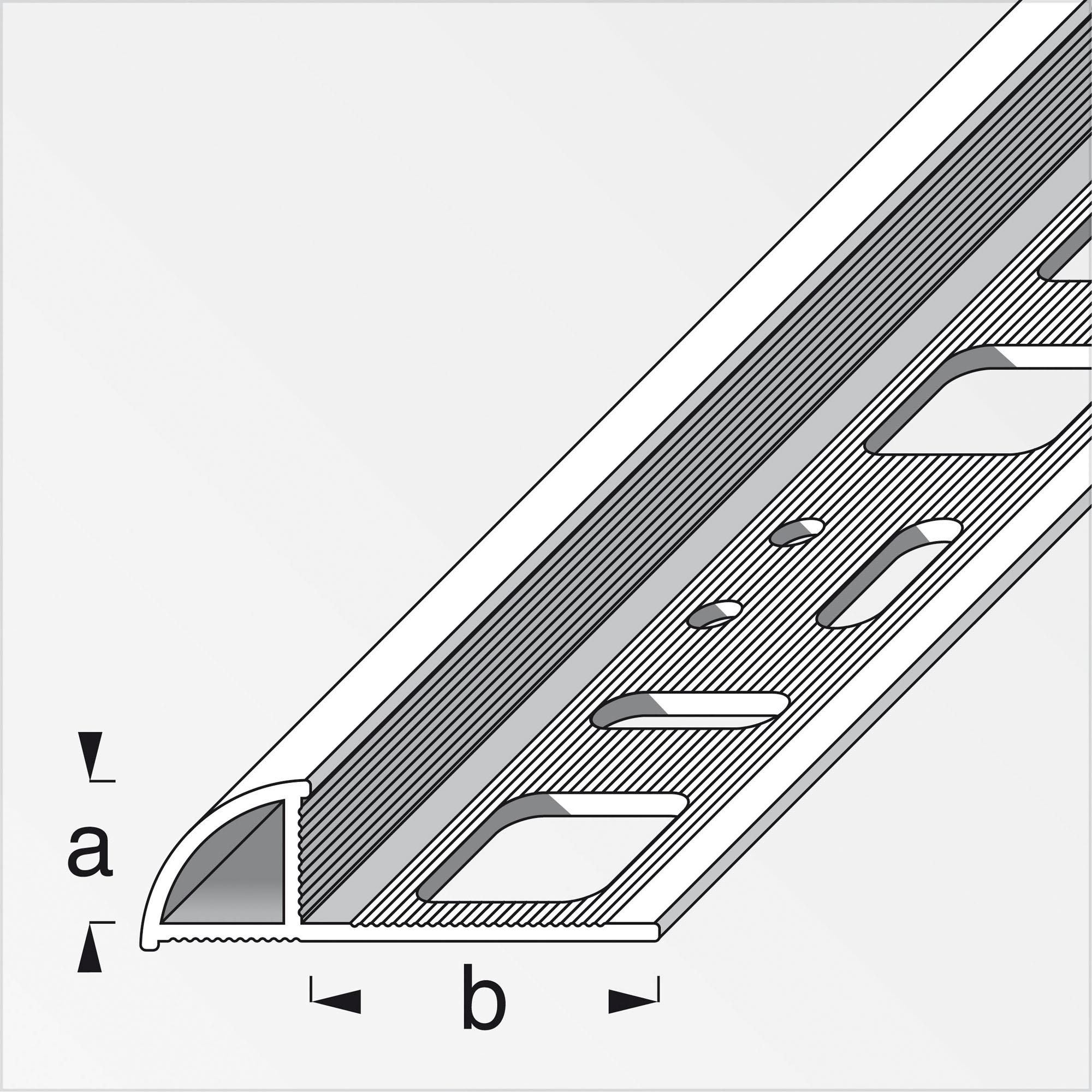 Alfer Viertelkreisprofil Aluminium silbern 8 mm