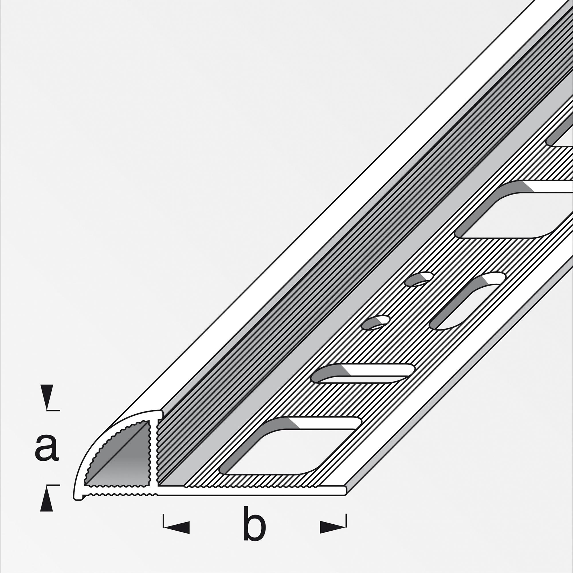 13+ Alfer Viertelkreisprofil 8 x 8,8 x 8 cm brillantweiß Stock