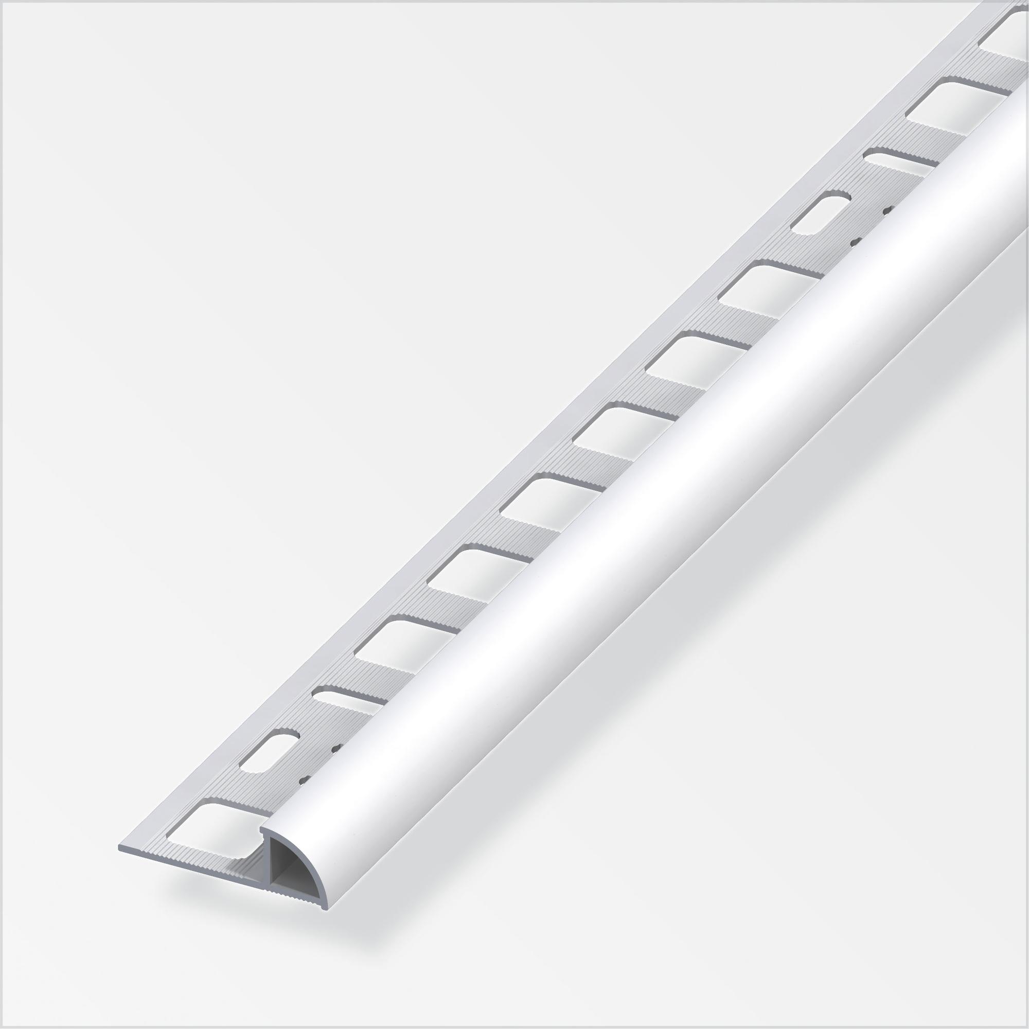 Alfer Viertelkreisprofil Aluminium silber 8 x 8 mm