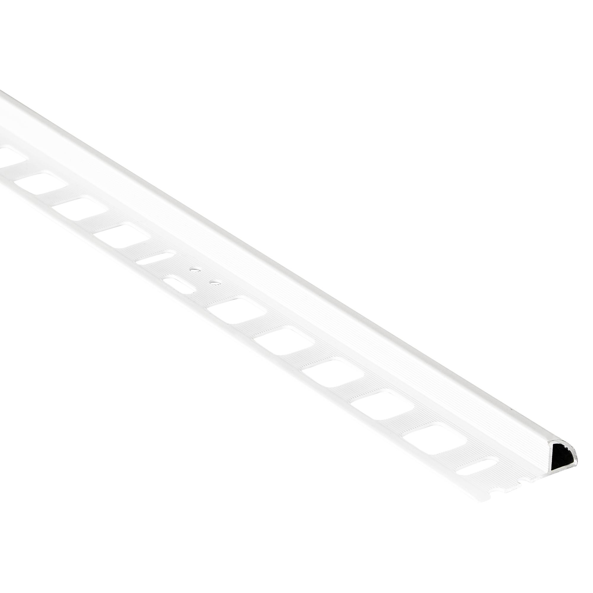 Alfer Viertelkreisprofil Aluminium weiß 8 x 8 mm