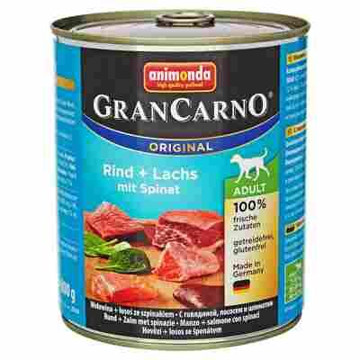 "Hundenassfutter ""Gran Carno"" Original mit Rind/Lachs/Spinat 800 g"