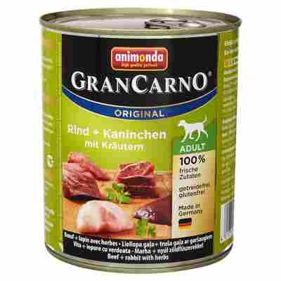 """Hundenassfutter """"Gran Carno"""" Original mit Rind/Kaninchen/Kräuter 800 g"""