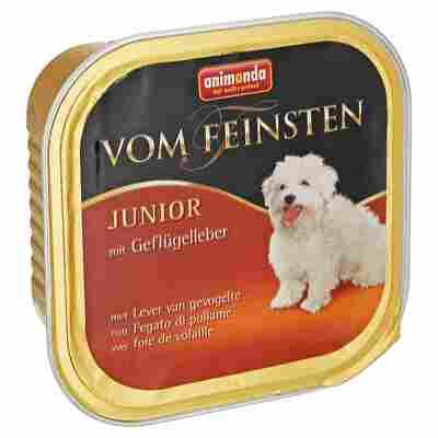 """Hundenassfutter """"Vom Feinsten"""" Junior mit Geflügelleber 150 g"""