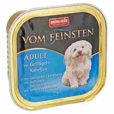 """Hundenassfutter """"Vom Feinsten"""" Adult mit Geflügel und Kabeljau 150 g"""
