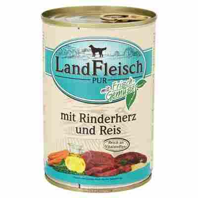 """Hundenassfutter """"Pur"""" mit Frischgemüse/Rinderherz/Reis 400 g"""