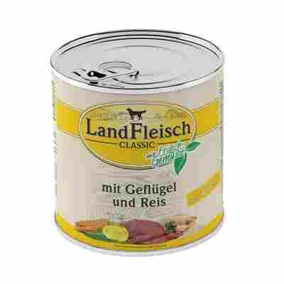 Hundenassfutter 'Dog Pur' Geflügel und Reis, extra mager 800 g
