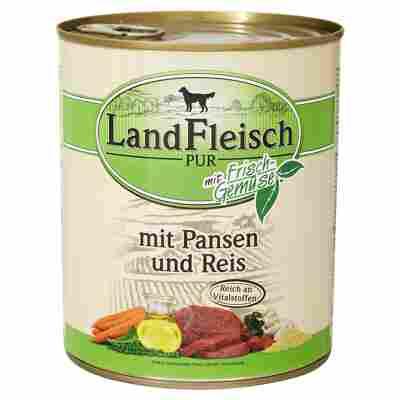 """Hundenassfutter """"Pur"""" mit Frischgemüse/Pansen/Reis 800 g"""