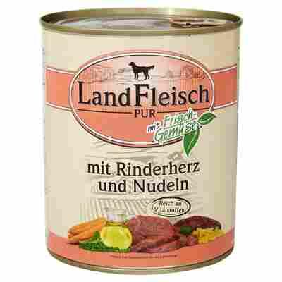 """Hundenassfutter """"Pur"""" mit Frischgemüse/Rinderherz/Nudeln 800 g"""