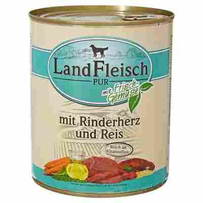 """Hundenassfutter """"Pur"""" mit Frischgemüse/Rinderherz/Reis 800 g"""