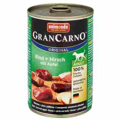 "Hundenassfutter ""Gran Carno"" Original Rind/Hirsch/Apfel 400 g"