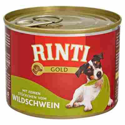 """Hundenassfutter """"Gold"""" mit Wildschwein 185 g"""
