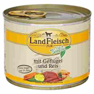 "Hundenassfutter ""Pur"" mit Frischgemüse/Geflügel/Reis 195 g"