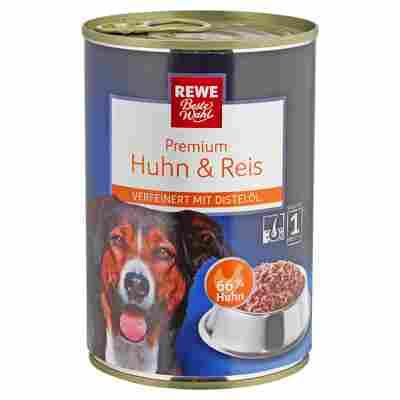 """Hundenassfutter """"Premium"""" Huhn und Reis 400 g"""