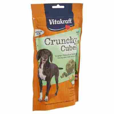 """Hundesnack """"Crunchy Cubes"""" mit Geflügel/Minze 140 g"""