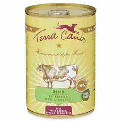 Hundenassfutter Adult Rind mit Karotte, Apfel und Naturreis 400 g