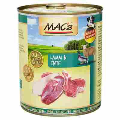 Hundenassfutter 800 g mit Lamm/Ente