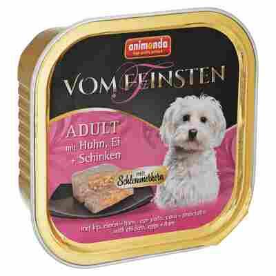 """Hundenassfutter """"Vom Feinsten"""" Adult mit Huhn/Ei/Schinken 150 g"""