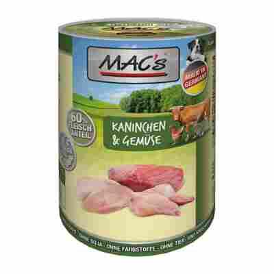 Hundenassfutter 'Dog' Kaninchen und Gemüse 400 g