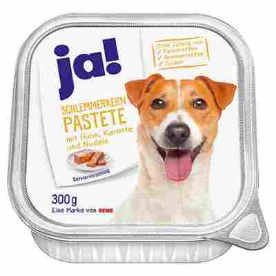 Hundnassfutter 'Schlemmerkern Pastete' Adult, mit Huhn, Karotte und Nudeln, 300 g