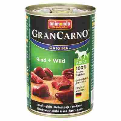 """Hundenassfutter """"Gran Carno"""" Original mit Rind/Wild 400 g"""