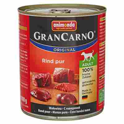 "Hundenassfutter ""Gran Carno"" Original Rind pur 800 g"