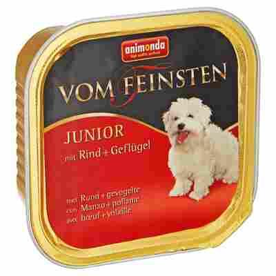"""Hundenassfutter """"Vom Feinsten"""" Junior mit Rind/Geflügel 150 g"""