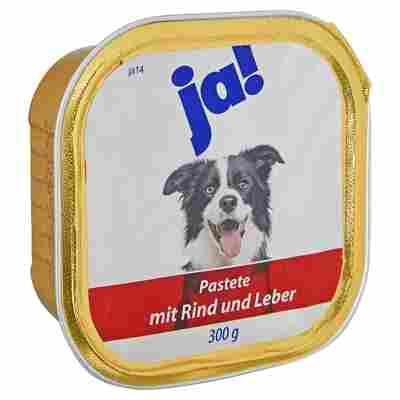 Hundenassfutter Pastete mit Rind und Leber 300 g