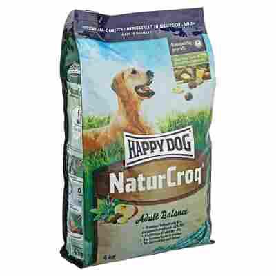 "Hundetrockenfutter ""Natur Croq"" Adult Balance Hüttenkäse und Spinat 4 kg"