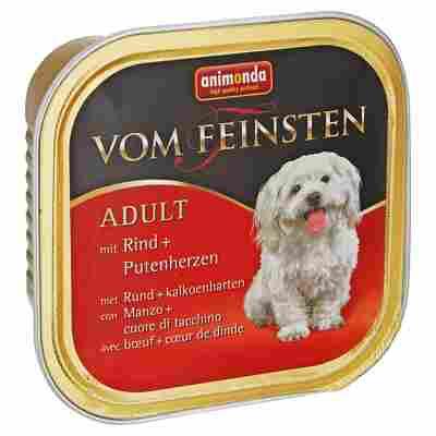 """Hundenassfutter """"Vom Feinsten"""" Adult mit Rind/Putenherzen 150 g"""