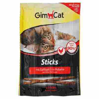 Katzensticks mit Geflügel 4x 5 g