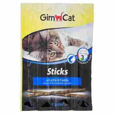 Katzensticks mit Lachs & Forelle 4x 5 g