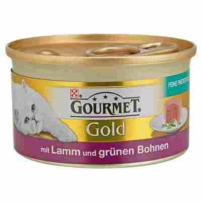 """Katzennassfutter """"Gourmet Gold"""" Feine Pastete mit Lamm & grünen Bohnen 85 g"""