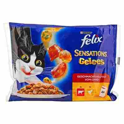 """Katzennassfutter """"Sensations Gelees"""" Rind und Huhn 4 x 100 g"""