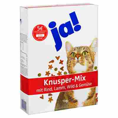 """Katzentrockenfutter """"Knusper-Mix"""" Rind und Gemüse 1 kg"""