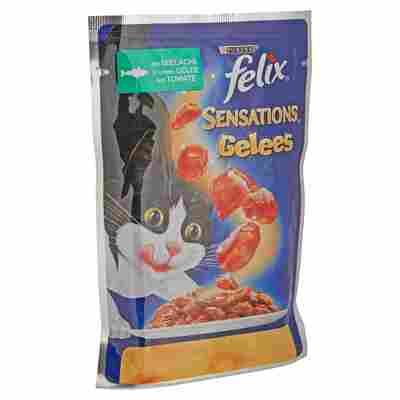 """Katzennassfutter """"Sensations Gelees"""" Lachs in Gelee mit Tomate 100 g"""