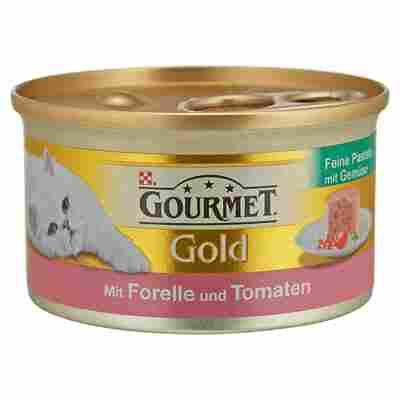 "Katzennassfutter ""Gourmet Gold"" Feine Pastete Forelle & Tomaten 85 g"