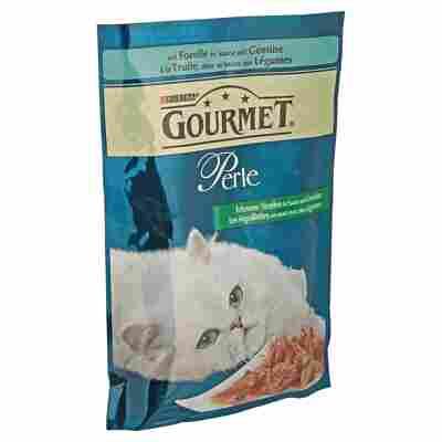 """Katzennassfutter """"Gourmet Perle"""" Forelle in Sauce mit Gemüse 85 g"""