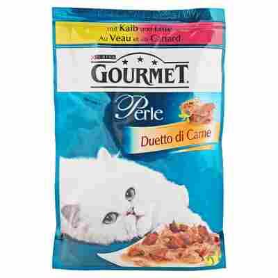 "Katzennassfutter ""Gourmet Perle"" Duetto di Carne Kalb & Ente 85 g"