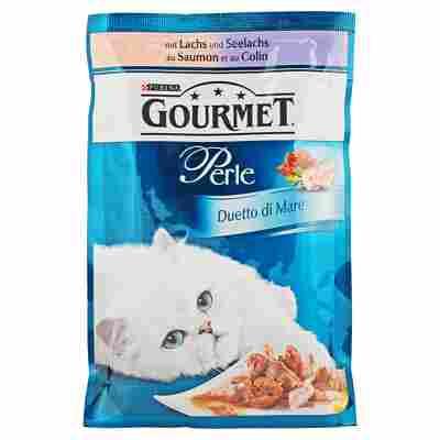 "Katzennassfutter ""Gourmet Perle"" Duetto di Mare Seelachs & Lachs 85 g"